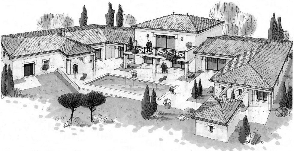 Conception plan maison maison moderne for Conception maison