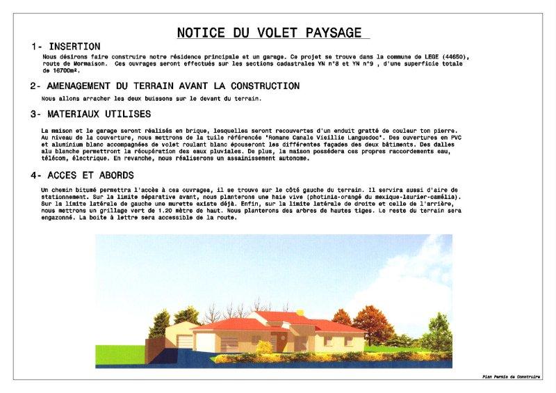 Conception plans r alisation de plans de maisons for Permis de construire notice